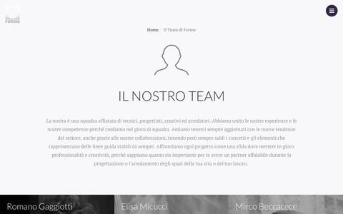 Screenshot of Team Page formesrl.net - Il Team di Forme - captured Aug. 4, 2016