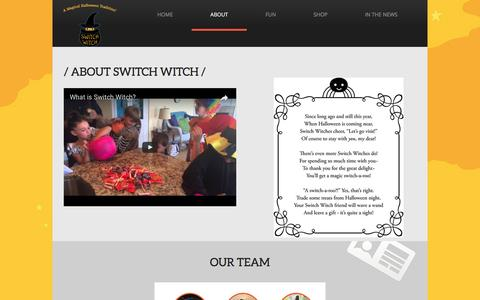 Screenshot of About Page switch-witch.com - Switch Witch - About Us - captured April 10, 2017