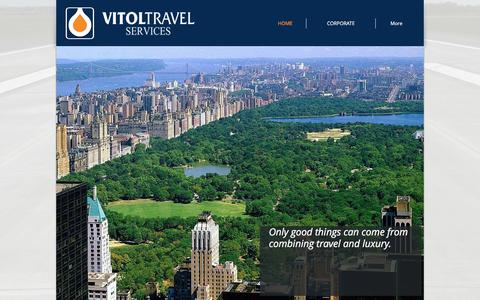 Screenshot of Home Page vitoltravel.com - Vitol Travel Services - captured Oct. 21, 2017