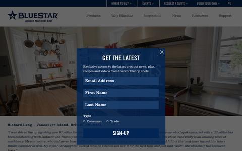 Screenshot of Testimonials Page bluestarcooking.com - Testimonials | About BlueStar - captured Sept. 30, 2016