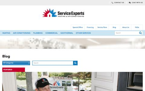 Blog | Service Experts Heating & Air Conditioning