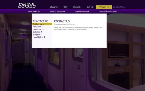 Screenshot of Contact Page yotel.com - Contact us - captured Sept. 19, 2014