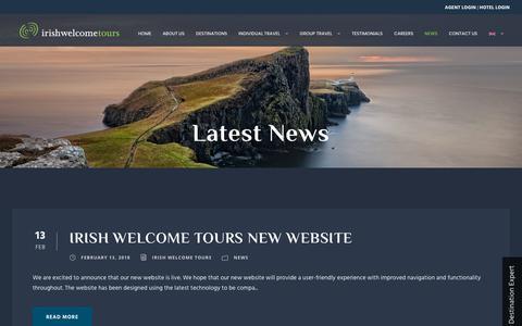 Screenshot of Press Page irishwelcometours.com - News - Irish Welcome Tours - captured Sept. 19, 2018