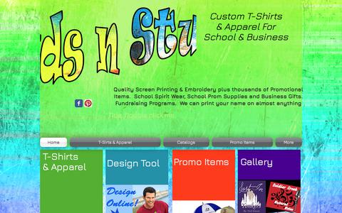 Screenshot of Home Page dudsnstuff.com - Duds N Stuff Custom Apparel and Promotional Items - captured June 5, 2017