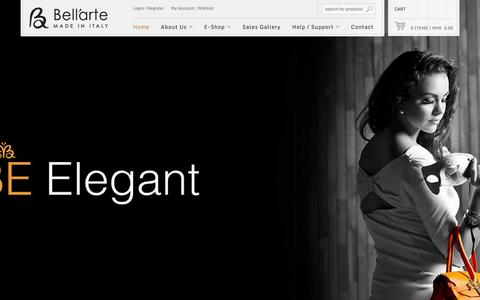 Screenshot of Home Page be-bellarte.com - Malaysia Be-Bellarte Hand Crafted Italian Handbag - captured Oct. 5, 2014
