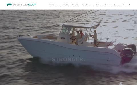 Screenshot of Home Page worldcat.com - World Cat | Offshore Power Catamarans - captured Sept. 20, 2015