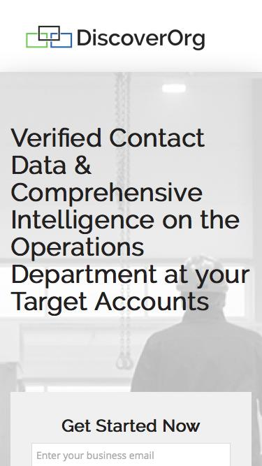 Business Intelligence on Operations contacts.
