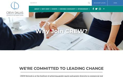 Screenshot of Signup Page crew-dallas.org - CREW Dallas - Why Join? - captured July 1, 2018