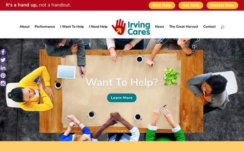 Screenshot of Home Page irvingcares.org - Irving Cares Home - Irving Cares - captured June 7, 2017