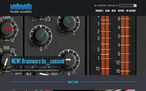 Screenshot of Home Page plugin-alliance.com - M/S Mastering Tools & Audio Plug-ins - Plugin Alliance - captured Nov. 17, 2015