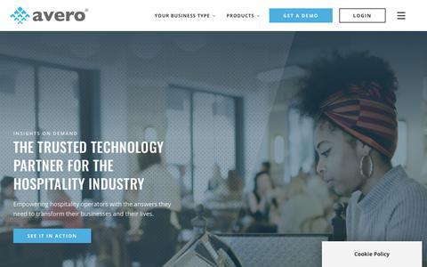 Screenshot of About Page averoinc.com - Our Story and Team   Avero - captured Nov. 29, 2019