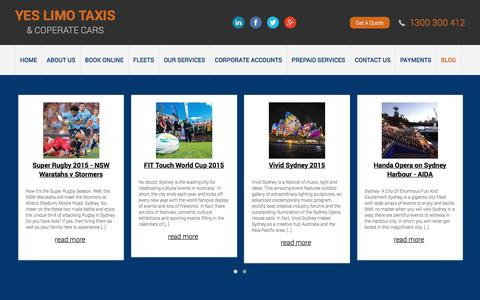Screenshot of Blog yeslimotaxis.com.au - yeslimotaxis.com.au | Corporate Transfers | Corporate Transports | Airport Limos - Sydney - Austraila: yeslimotaxis.com.au - captured Nov. 11, 2017