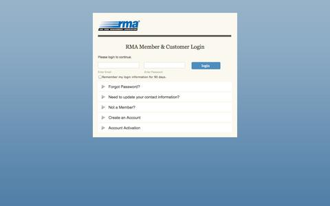 Screenshot of Login Page rmahq.org - Single Sign On - captured Sept. 23, 2014