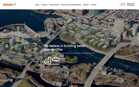 Screenshot of Home Page dream.ca - Dream - captured Feb. 9, 2016