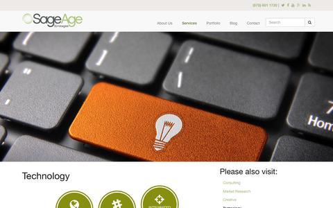 Screenshot of sageagestrategies.com - Technology | Sage Age Strategies - captured March 19, 2016