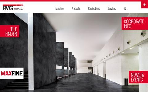 Screenshot of Site Map Page irisfmg.com - Porcelain Tile Floorings and Wall coverings - FMG Fabbrica Marmi e Graniti - captured Oct. 5, 2014