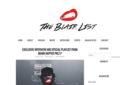 Screenshot of Home Page theblairlist.com - The Blair List | Your Favorite Source for Hip Hop & Fashion | #BLAIRLISTED - captured Aug. 13, 2015