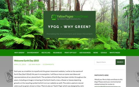 Screenshot of Blog yellowpagesgoesgreen.org - Green Blog by Yellow Pages Goes Green - captured Oct. 12, 2015