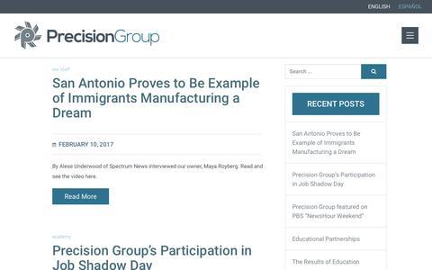Screenshot of Blog precision-group.com - | Precision Group - captured June 29, 2017