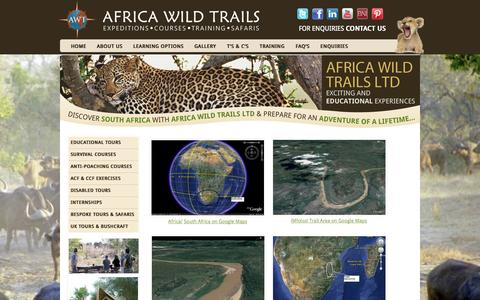 Screenshot of Maps & Directions Page africawildtrails.com - Maps & Trail Areas | Africa Wild Trails Ltd - captured Oct. 4, 2014