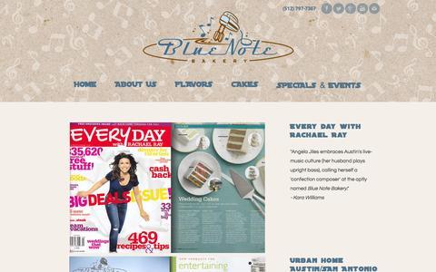 Screenshot of Press Page bluenotebakery.com - Press - Blue Note Bakery - captured Sept. 30, 2014
