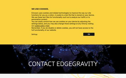 Screenshot of Contact Page ericsson.com - Unified Delivery Network (UDN) Contact - Edge Gravity by Ericsson - captured Dec. 10, 2018