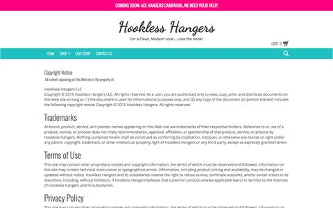 Screenshot of Terms Page hooklesshangers.com - Terms & Conditions | Hookless Hangers - captured Dec. 12, 2015