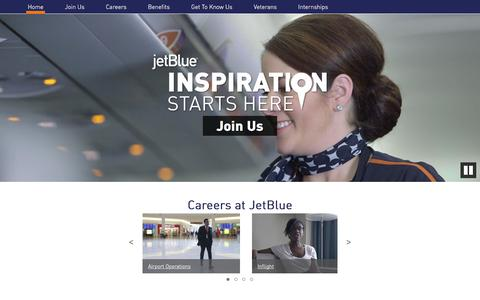 Screenshot of Jobs Page jetblue.com - Home - JetBlue CareersJetBlue Careers - captured June 3, 2018