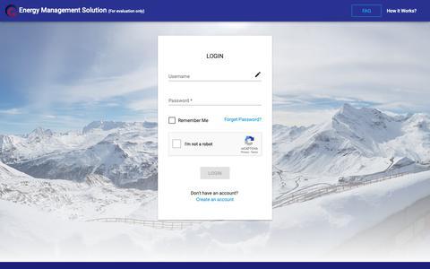 Screenshot of Login Page whiznets.com - Login - Energy Management Solution - captured Feb. 17, 2019