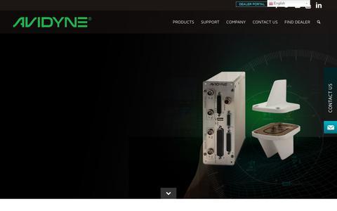 Screenshot of Home Page avidyne.com - ADS-B and GPS Navigation Systems for Aviation | Avidyne Avionics - captured Aug. 22, 2019
