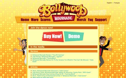 Screenshot of Press Page chrysaorstudio.com - Bollywood Wannabe | Media - captured May 17, 2017
