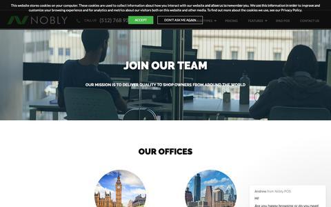 Screenshot of Jobs Page noblypos.com - Andrew says… - captured Nov. 17, 2018