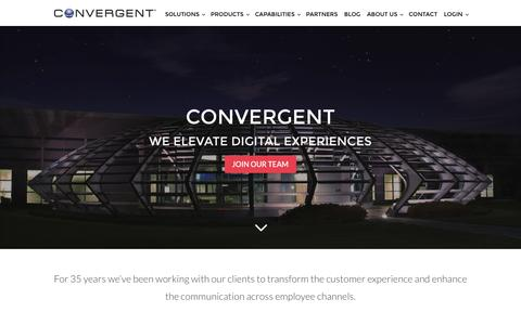 Screenshot of About Page Team Page convergent.com - Convergent - captured Nov. 10, 2016