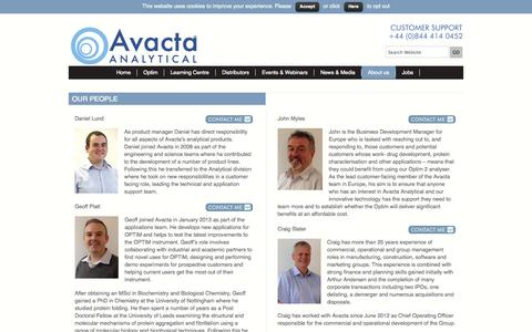 Screenshot of Team Page avactaanalytical.com - Our People - Avacta Analytical - captured Sept. 30, 2014