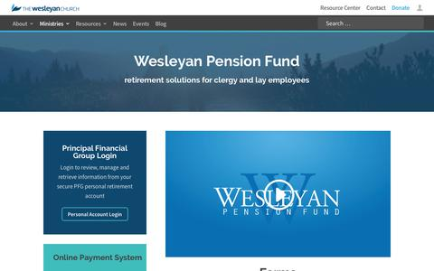 Wesleyan Pension Fund - The Wesleyan Church
