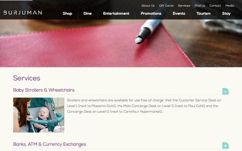 Screenshot of Services Page burjuman.com - BurJuman - Services - captured Jan. 7, 2016
