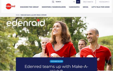 Screenshot of Press Page edenred.com - Edenred teams up with Make-A-Wish®   Edenred - captured July 8, 2019