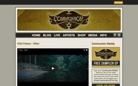Screenshot of Blog communionmusic.co.uk - Blog – Communion - captured Oct. 2, 2014