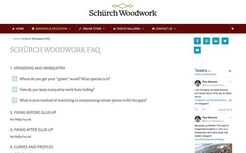 Screenshot of FAQ Page schurchwoodwork.com - Schürch Woodwork FAQ - captured Aug. 26, 2018