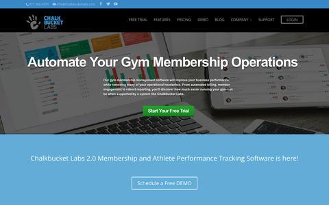 Screenshot of Home Page chalkbucketlabs.com - Chalkbucket Labs - Gym Management Software & System - captured Dec. 8, 2015