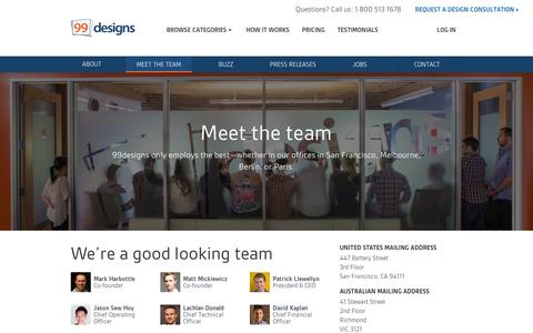 Screenshot of Team Page 99designs.com - Meet the team | 99designs - captured Sept. 10, 2014