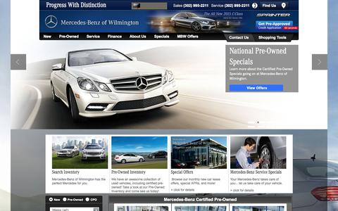 Screenshot of Home Page mbofwilmington.com - Authorized Mercedes Dealer | Wilmington , Delaware - captured Oct. 6, 2014