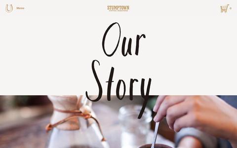 Screenshot of stumptowncoffee.com - Stumptown Coffee Roasters   Our Story - captured March 21, 2016