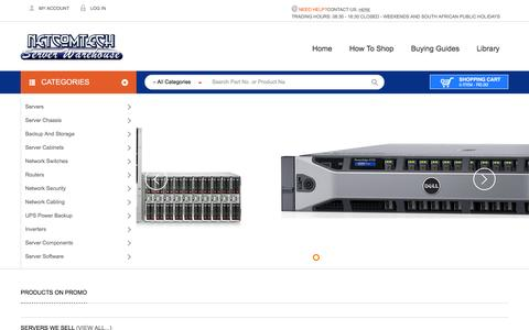 Screenshot of Home Page server-warehouse.co.za - Servers Online Store - South Africa - captured Dec. 19, 2015