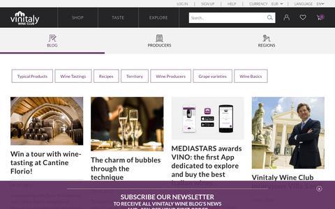 Screenshot of Blog vinitalyclub.com - blog | Vinitaly Wine Club - captured Nov. 24, 2016