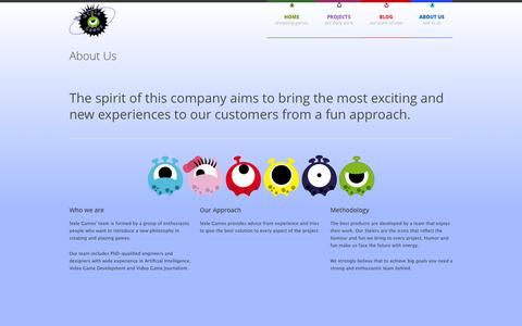 Screenshot of About Page stelegames.com - About Us - Stele Games - captured Oct. 7, 2014