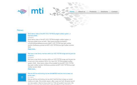 Screenshot of Press Page mtitelematics.com - - MTI Telematics - captured Feb. 3, 2016