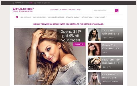 Screenshot of Home Page opulencehair.net - Opulence Hair Extensions - captured Oct. 7, 2014