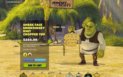 Screenshot of Home Page jeremyscott.com - JEREMY SCOTT - captured Sept. 19, 2014
