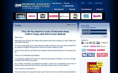 Screenshot of Pricing Page dominicknight.co.uk - Welcome to Dominic Knight Companies :: - captured Oct. 31, 2014
